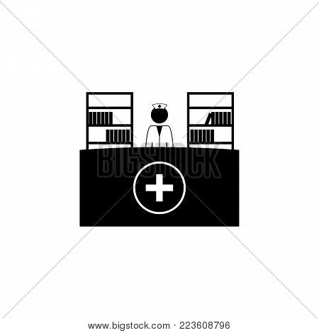Reception in the hospital icon. Elements of Patients in the hospital icon. Premium quality graphic design. Signs, outline symbols collection icon for websites, web design, mobile on white background