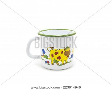 A Turkish Coffee Pot Isolated On White Background,metal Pots For Coffee.