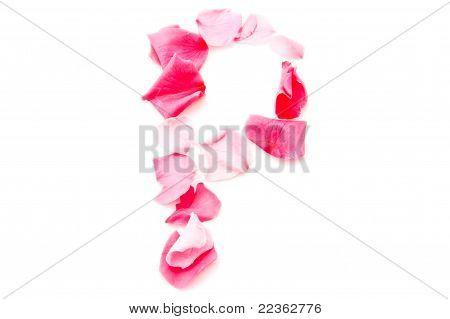 Pink Petal Letter - Capital P