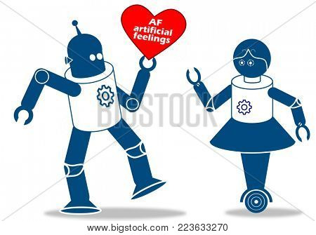 Robot with artificial feelings