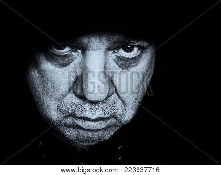 Sad man face