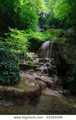 Waterfall In The Green