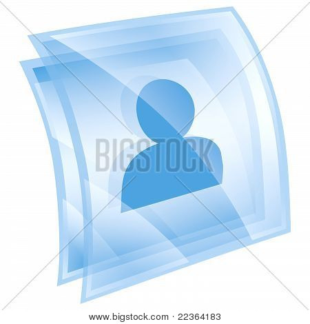 User Icon Blue, Isolated On White Background