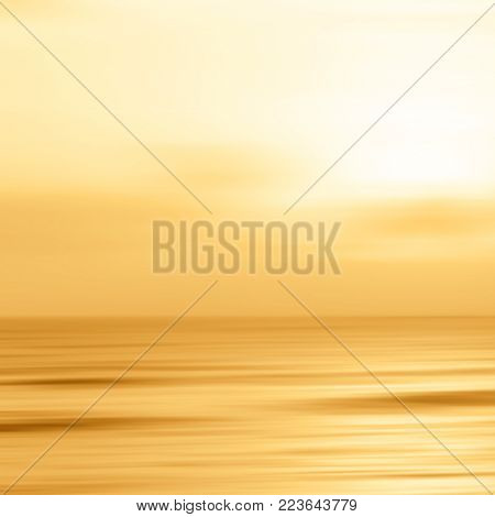 Sunset background on the beach - abstract tranquility concept