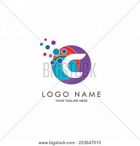 sophisticated luxury logos,  initials C icon design,  abstract logo, initials symbol design