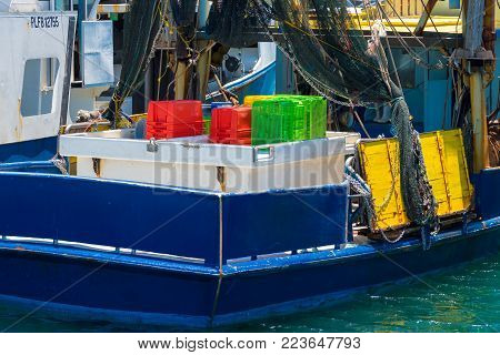 Coffs Harbour, NSW, Australia- December 20, 2017 : Fishing boat at Coffs Harbour, one of the most popular family holiday destinations in New South Wales, Australia.