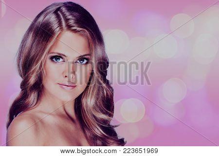 vogue style portrait of beautiful delicate woman.