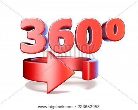 360 Degrees View Vertical Arrow 3D