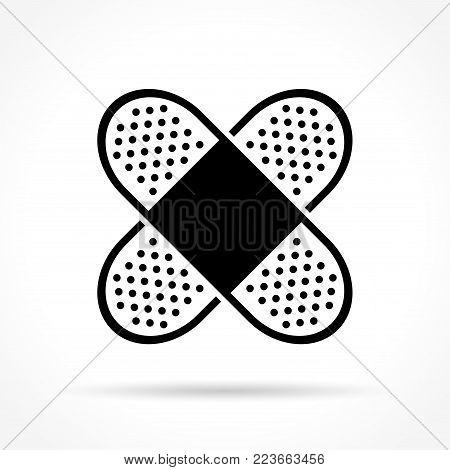 Illustration of bandage icon on white background