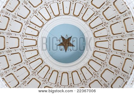 Interior ceiling of Texas capitol rotunda