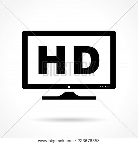 Illustration of high definition icon on white background
