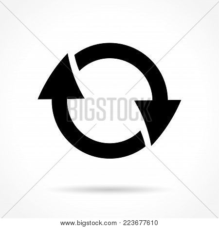Illustration of reload icon on white background