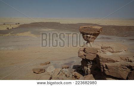 Rock formation at Sahara desert near Tchirozerine region near Agadez, Niger