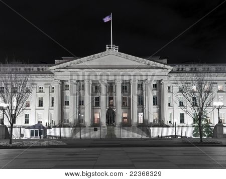 United States Treasury Building Night