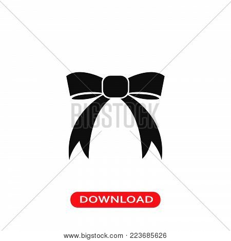 Ribbon icon vector in modern flat style for web, graphic and mobile design. Ribbon icon vector isolated on white background. Ribbon icon vector illustration, editable stroke and EPS10. Ribbon icon vector simple symbol for app, logo, UI.