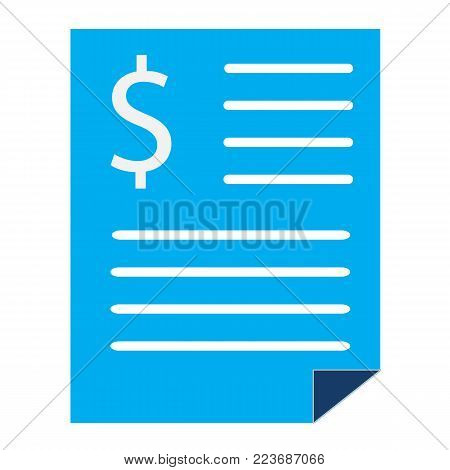 bank statement sign. bank statement icon on white background. bank statement vector symbol. flat style.