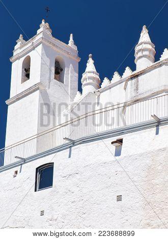 Mertola parish church (Igreja matriz) originally a mosque. Now it s dedicated to Our Lady of the Annunciation. Mertola. Baixo Alentejo. Portugal poster