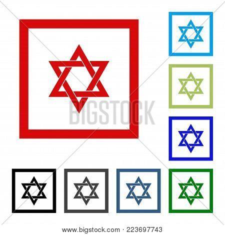 Star Of David. Vector Flat Icon. Web Design