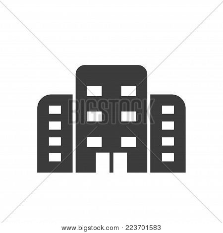 Apartment icon. Apartment Vector isolated on white background. Flat vector illustration in black. EPS 10