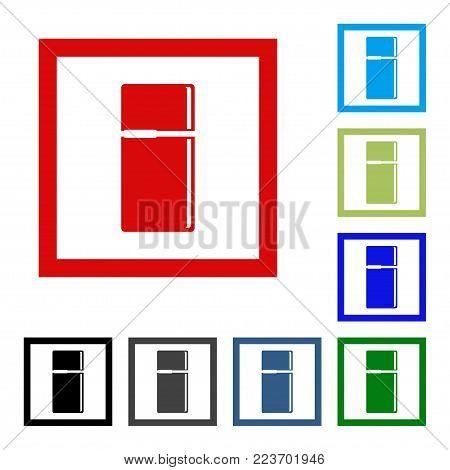 Vector refrigerator Icon. Flat design vector icon