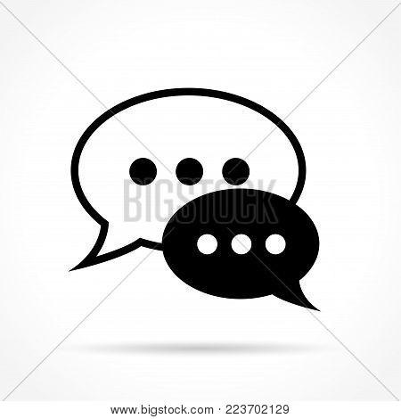Illustration of speech bubble icon on white background