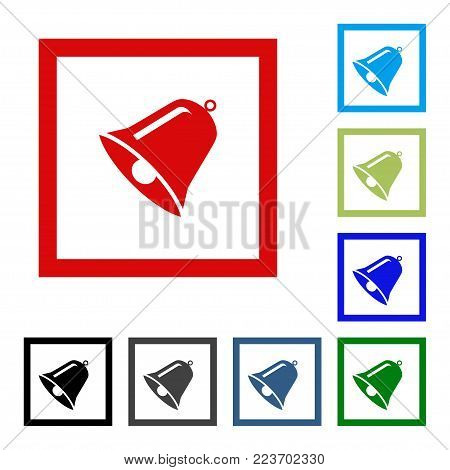 Bell icon vector, Alarm, service bell, handbell sign Isolated on white background. Trendy Flat style for graphic design, logo, Web site, social media, UI, mobile app, EPS10
