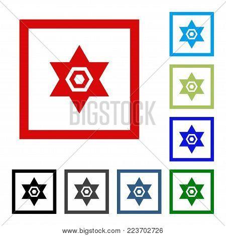 Star of David. Icon. Vector flat design icon.