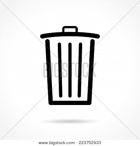 Illustration of delete icon on white background