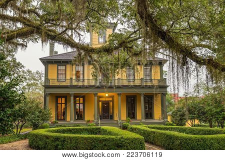 TALLAHASSEE, FLORIDA - JANUARY 16, 2015 : The Brokaw-McDougall House located in the National Register Historic District. It is a historic mansion built in 1856.