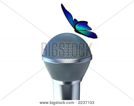 Microphone And Butterfly