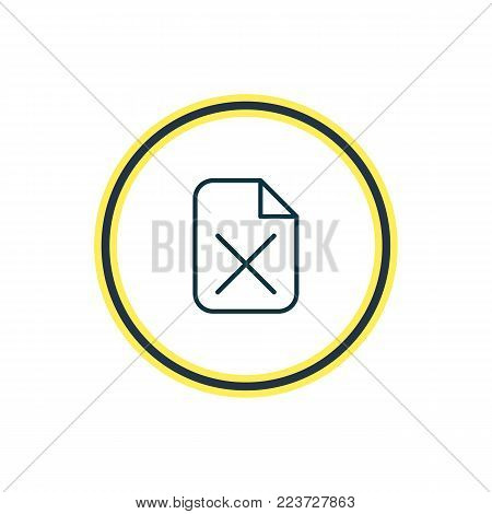 Vector illustration of delete icon line. Beautiful bureau element also can be used as remove  icon element.