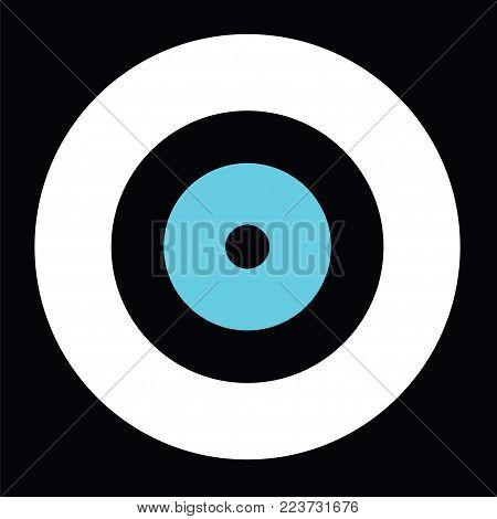 black evil eye vector - greek evil eye - symbol of protection