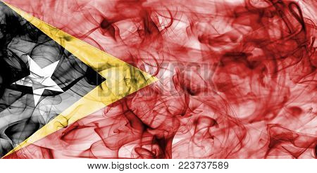 East Timor smoke flag isolated on a white background