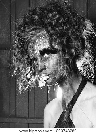 Sensual Girl With Paited Face