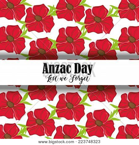 remembrance war with anzac day memorial vector illustration