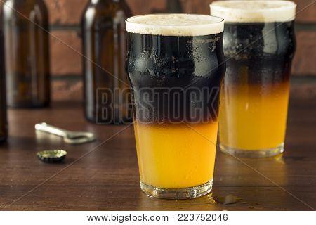 Irish Layered Black And Tan Beer