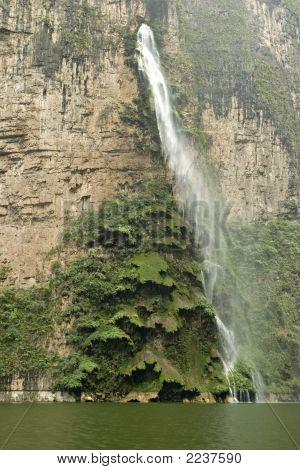 Waterfall In Sumidero Canyon