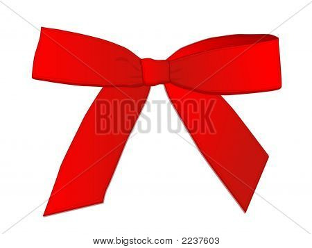 Sngle Red Bow