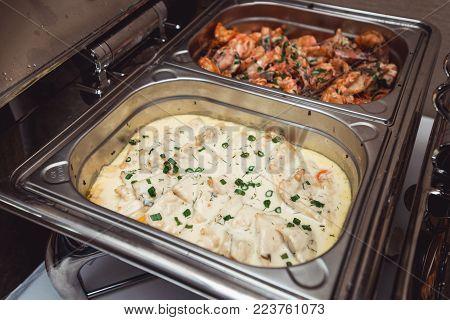chicken fillet stewed in sour cream sauce.