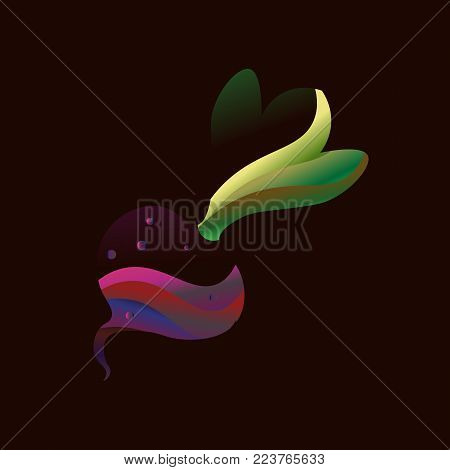 Gradient beet illustration. Simple style. Isolated Clip art
