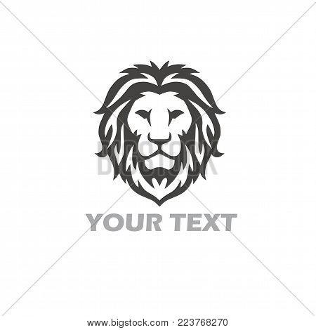 Lion Vector Icon Logo Template Design. Popular Illustration