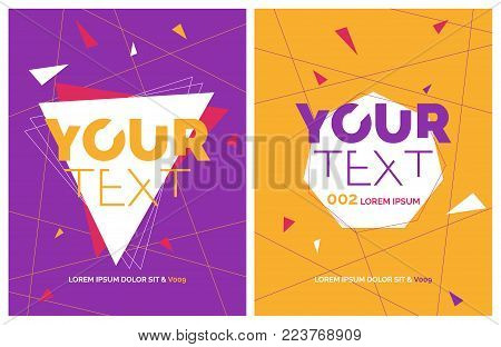 Minimal house party poster. Futuristic flyer design. Abstract background with line shapes in motion. Eps10 vector template.