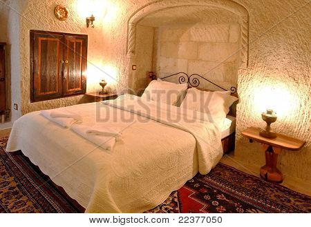 Interior Design Bedroom White Detailed Bedspread