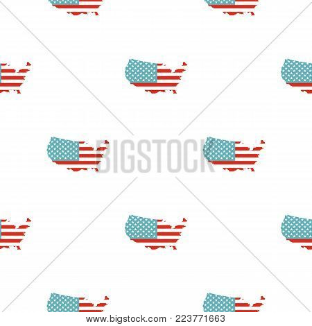 American map pattern seamless background in flat style repeat vector illustration