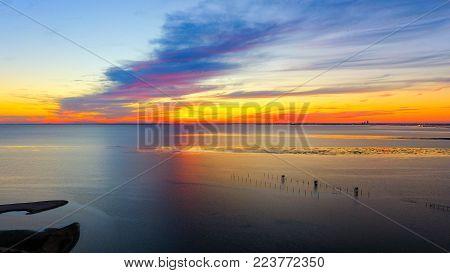 Sunsets over Mobile Bay on the Alabama Gulf Coast