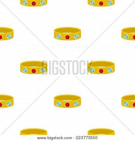 Vintage gold bangle pattern seamless background in flat style repeat vector illustration