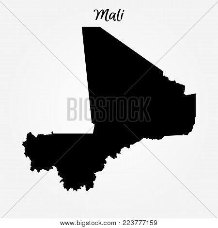 Map Of Mali. Vector Illustration. World Map