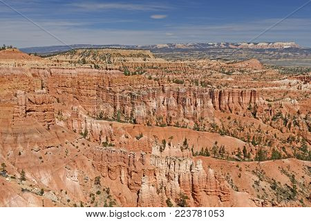 Panorama of Hoodoos in the Wilds of Bryce Canyon National Park in Utah