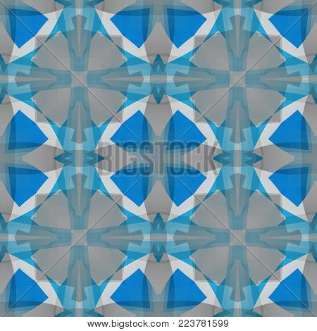 Blue grey abstract texture. Simple background illustration. Textile print pattern. Home decor fabric design sample. Square seamless tile. Tileable motif for pillows, cushions, tablecloths, drapes etc.