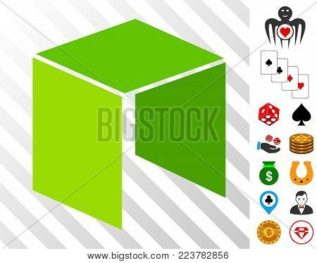 Neo Currency pictograph with bonus gambling clip art. Vector illustration style is flat iconic symbols. Designed for gamble apps.